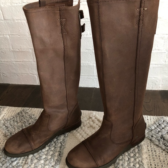 Sorel leather tall waterproof leather boots
